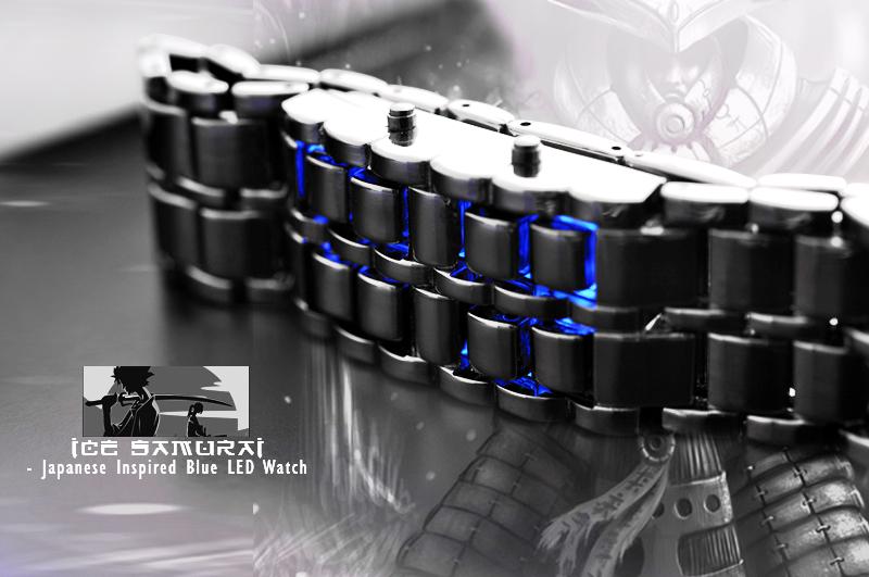 LED hodinky modré 62ab68f9f4